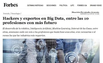 Hackers y expertos en Big Data, entre las 10 profesiones con más futuro