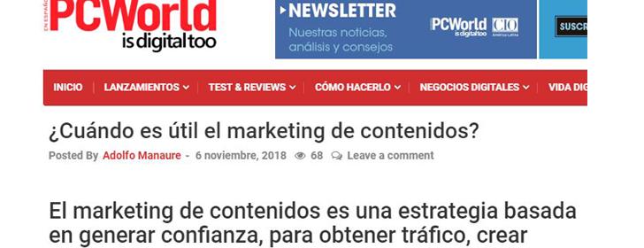 ¿Cuándo es útil el marketing de contenidos?
