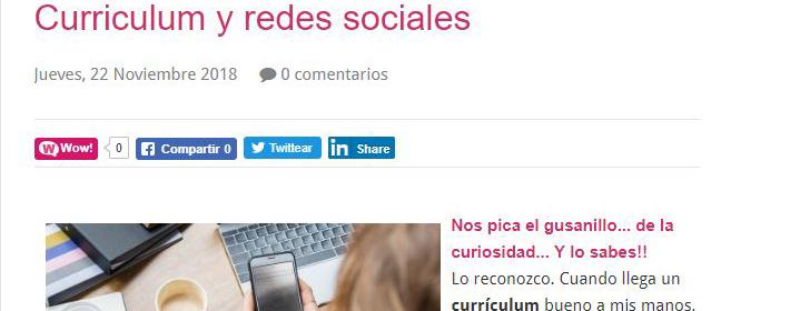Curriculums y redes sociales