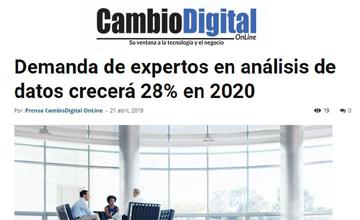 La demanda de expertos en análisis de datos crecerá un 28 por ciento en 2020